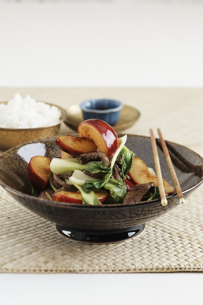 Chinese Stir Fry with Plums