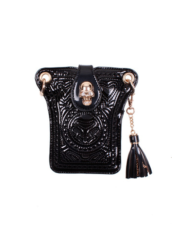 Mini black skull bag.
