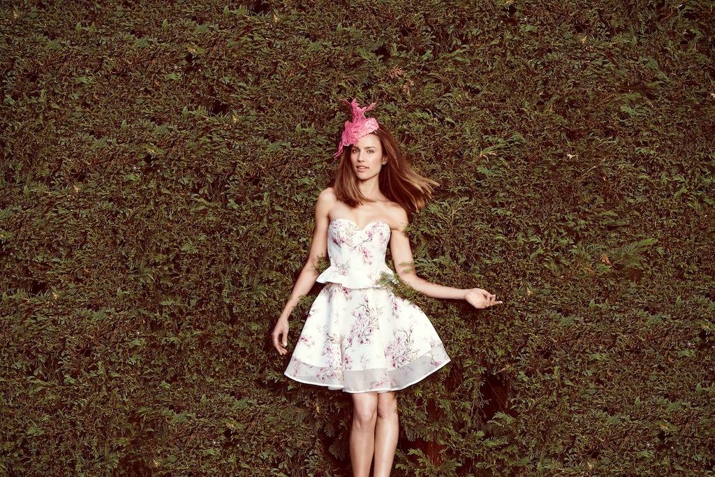 Aje top + skirt/ Kim Fletcher fascinator