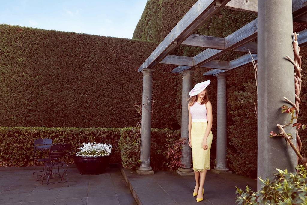 Alex Perry dress/ Ann Shoebridge headpiece