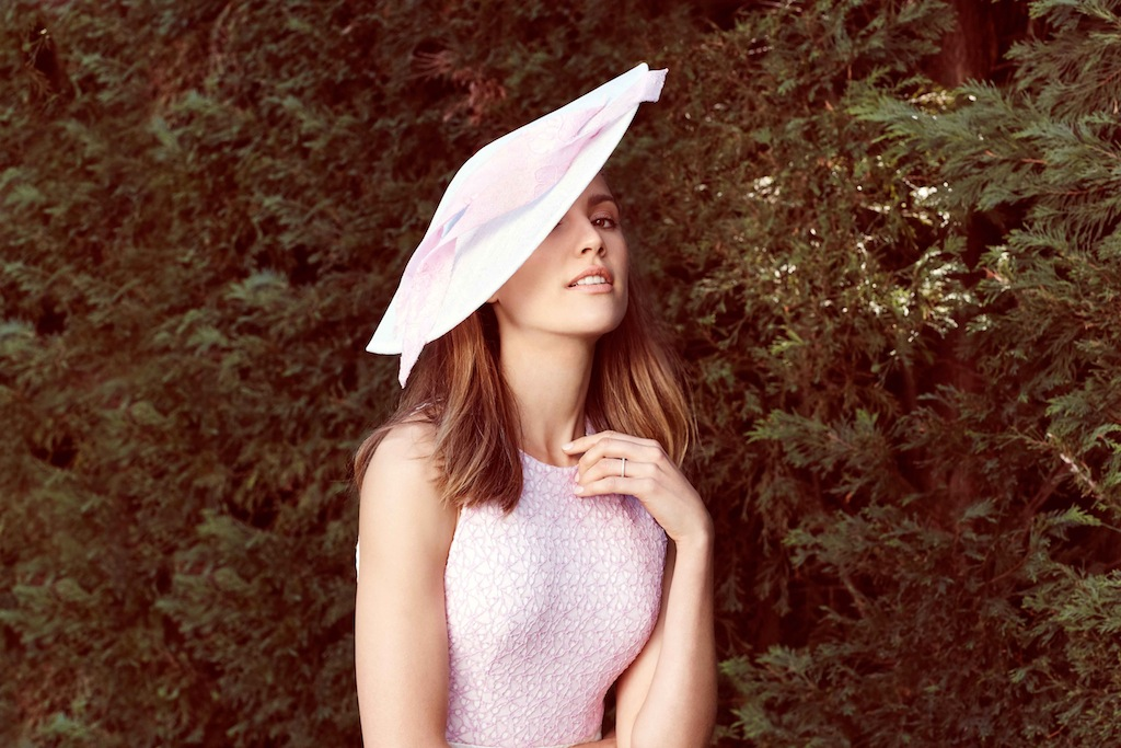 A statement on Cup day. Alex Perry dress/ Ann Shoebridge headpiece