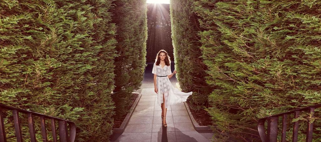 Hello sunshine. Kate Sylvester dress/ Viktoria headpiece/ Casadei heels