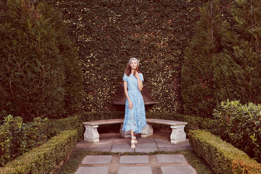 Kate Sylvester dress/ Lisa Tan fascinator / Proenza Schouler heels